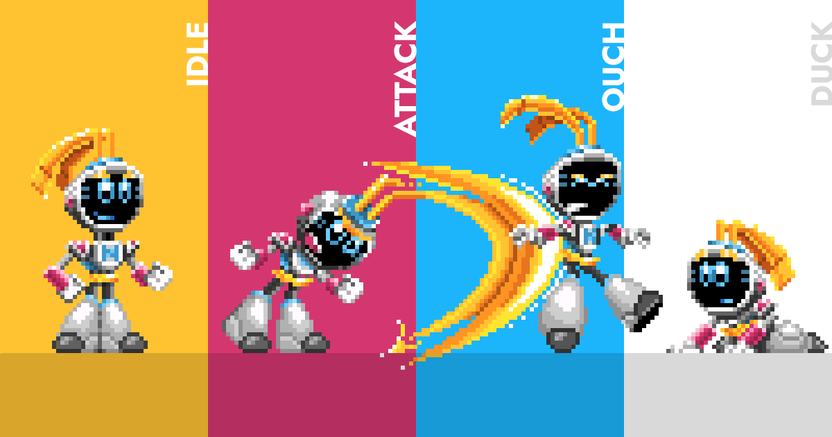 My First Pixel Art Character Sprite Ever